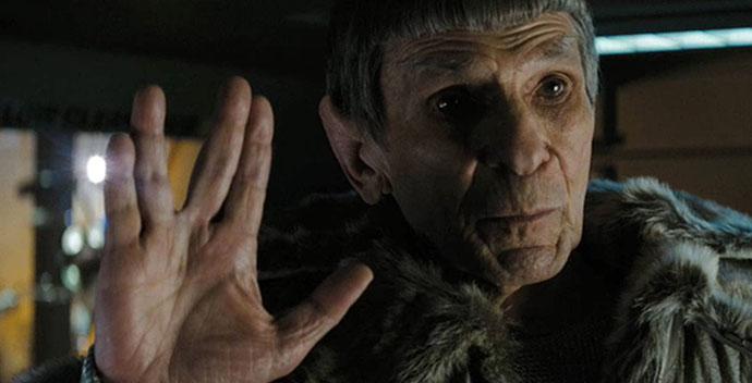Leonard Nimoy as Spock in JJ Abrams Star Trek reboot