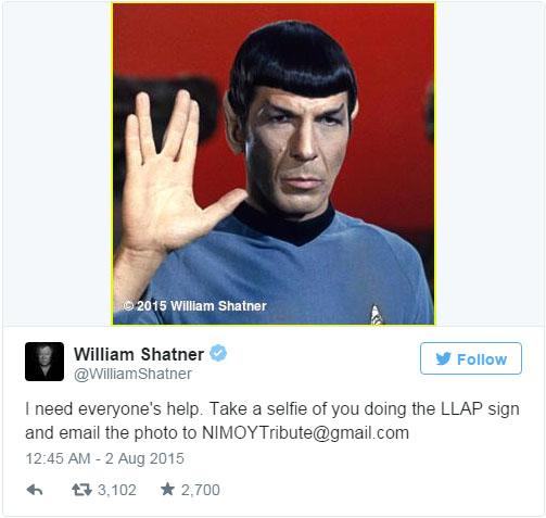 Shatner's LLAP Request