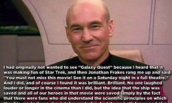 Patrick Stewart Loves Galaxy Quest