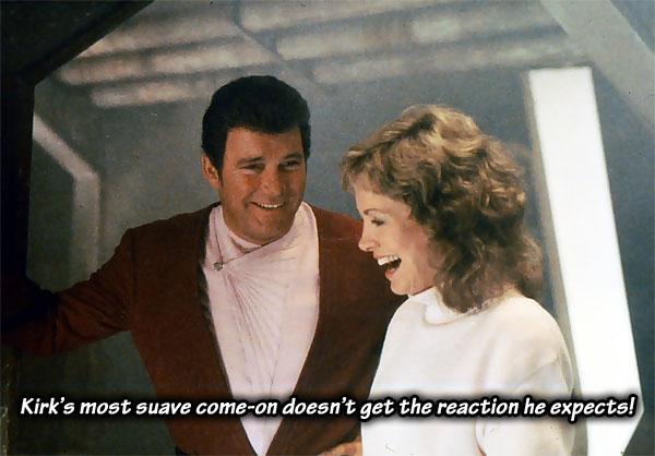 Kirk and Gillian in Star Trek IV