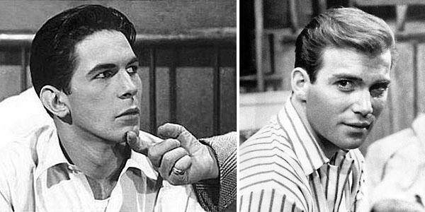 Leonard Nimoy & William Shatner in the 1950s