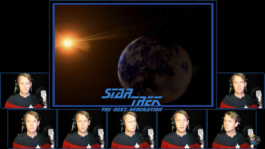 The Star Trek: The Next Generation Theme Sung A Capella