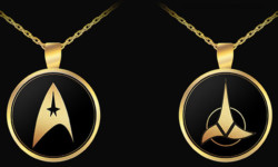 Star Trek Gold Pendants