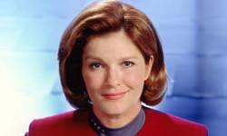 Kate Mulgrew as Captain Janeway on Voyager